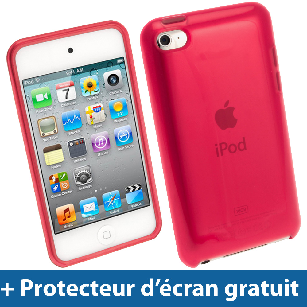 Rouge coque gel tpu pour apple ipod touch 4g 4 me itouch for Housse ipod touch
