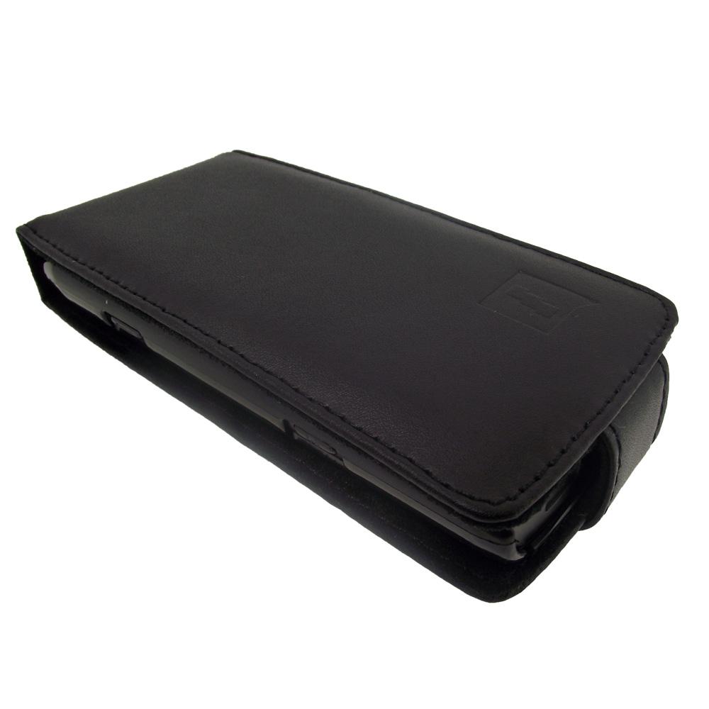 Noir etui housse case cover cuir v ritable pour samsung for Housse samsung wave 2