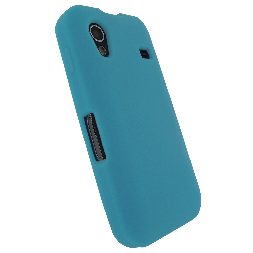 Igadgitz Blue Silicone Skin Case Cover For Samsung Galaxy