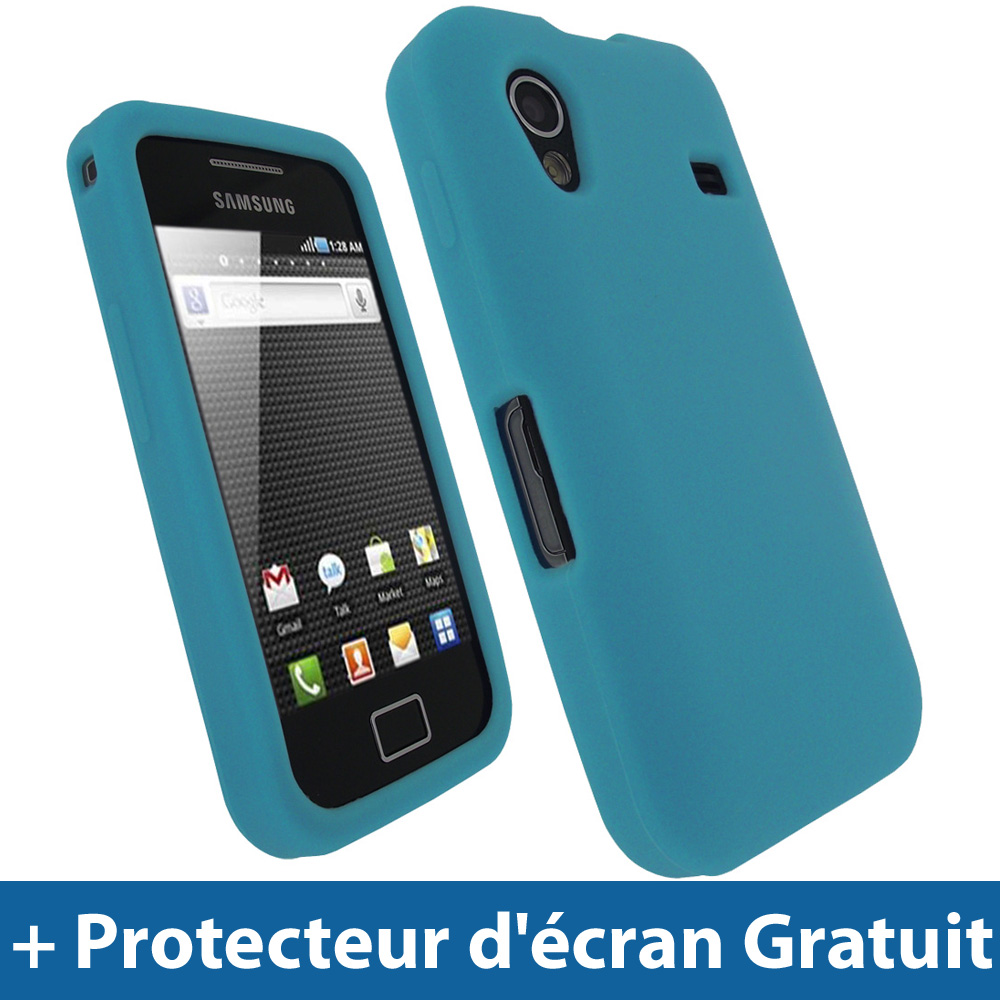 Bleu silicone etui pour samsung galaxy ace s5830 android for Housse samsung galaxy