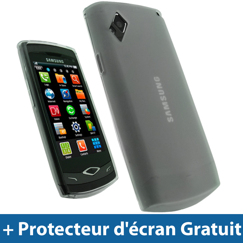 Clair Coque Gel TPU pour Samsung Wave S8500 Android Smartphone Housse Etui Case Enlarged Preview