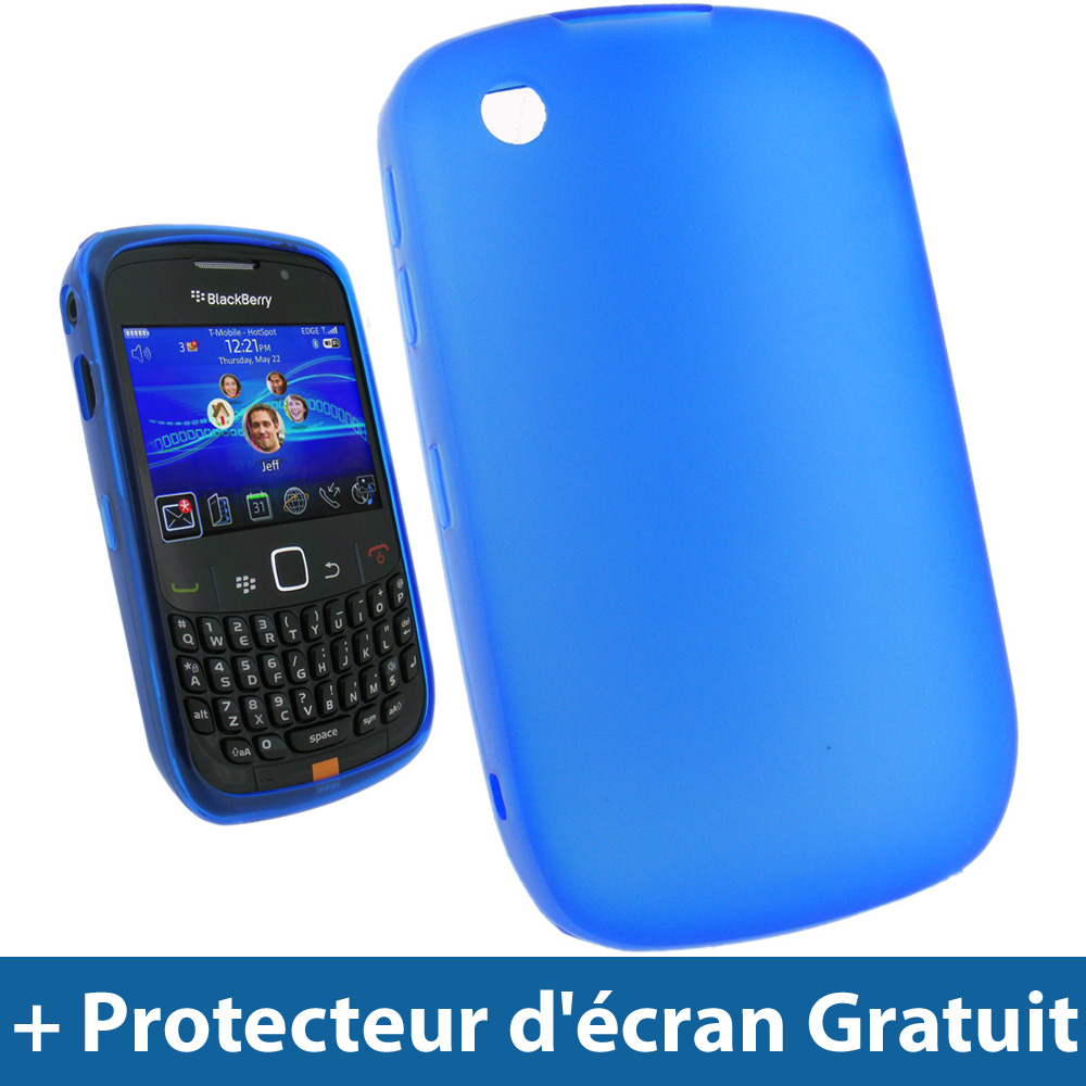 Bleu coque gel tpu pour blackberry curve 8520 9300 3g for Housse blackberry curve