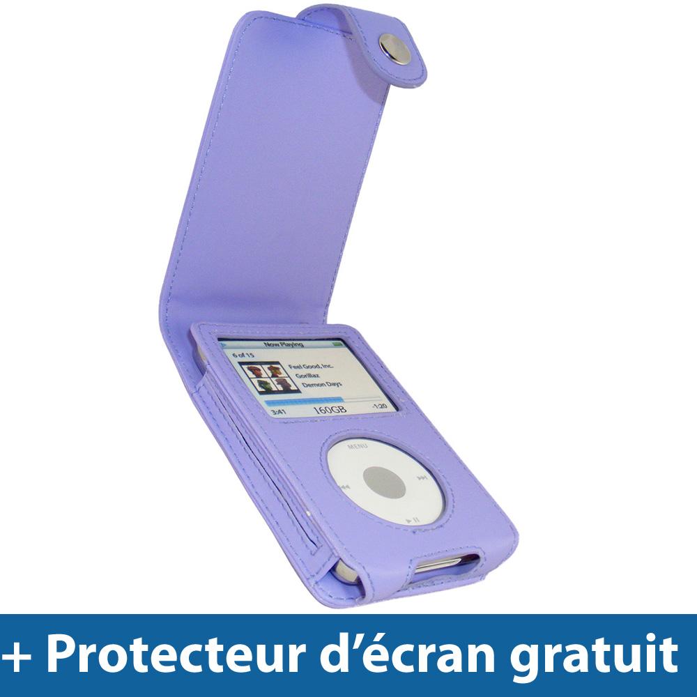 Pourpre etui case cuir pu pour apple ipod classic 80gb for Housse ipod classic