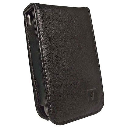 iGadgitz Black PU Leather Case Cover for Kubik Edge II 8GB MP3 Player Thumbnail 2