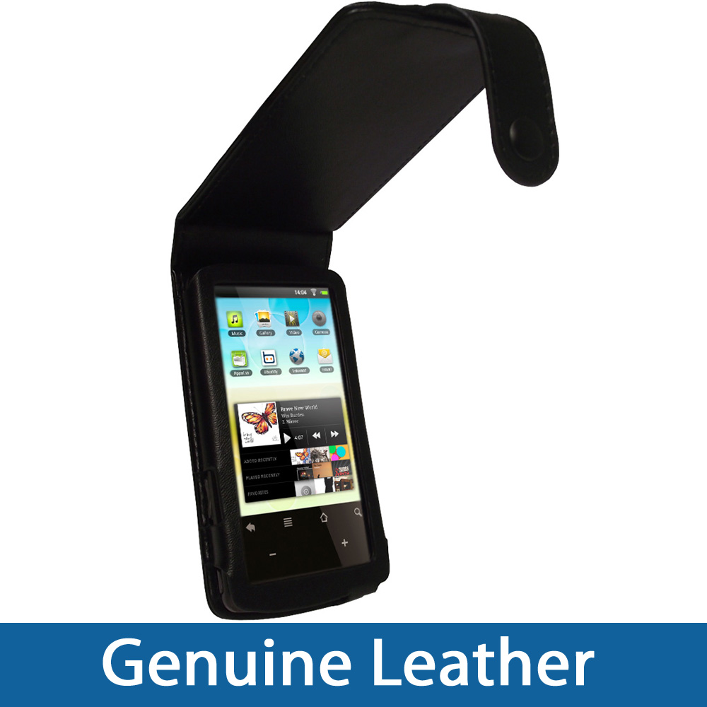 Black Leather Case Cover Holder for Archos 32 Android Internet Tablet 8gb Enlarged Preview