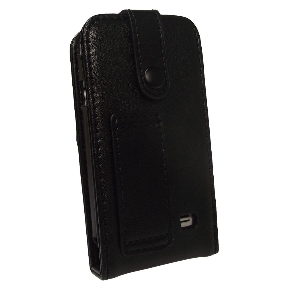 noir housse cuir v 233 ritable pour samsung galaxy player 50 android etui coque ebay