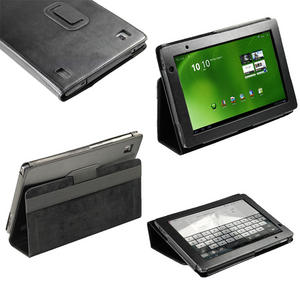 iGadgitz Black 'Portfolio' Genuine Leather Case Cover for Acer Iconia Tab A500 A501 10.1 Android Tablet 16gb 32gb Preview
