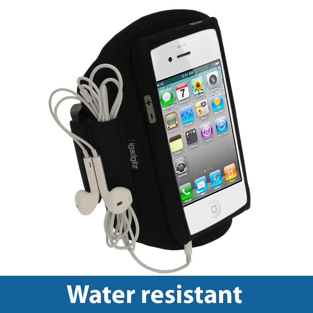Black Water Resistant Sports Gym Jogging Armband For New