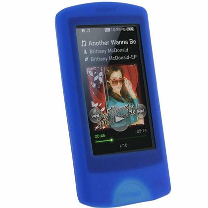 iGadgitz Blue Silicone Skin Case for Sony Walkman NWZ-A864 NWZ-A865 NWZ-A866 NWZ-A867 A Series + Screen Protector Thumbnail 1