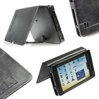 View Item iGadgitz Black Genuine Leather Case Cover for Archos 70 Android Internet Tablet 8GB Flash 250GB
