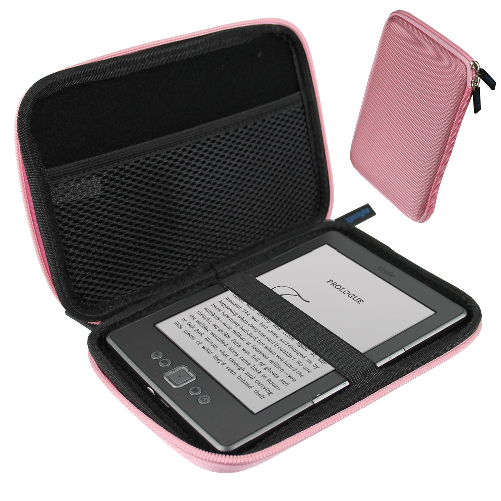 "iGadgitz Pink EVA Travel Hard Case Sleeve for New Amazon Kindle 4 Wi-Fi 6"" eReader (Released October 2011)"