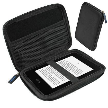 iGadgitz Black EVA Travel Hard Case Cover Sleeve for Amazon Kindle Paperwhite 2015 2014 2013 2012 & Kindle Touch Thumbnail 1