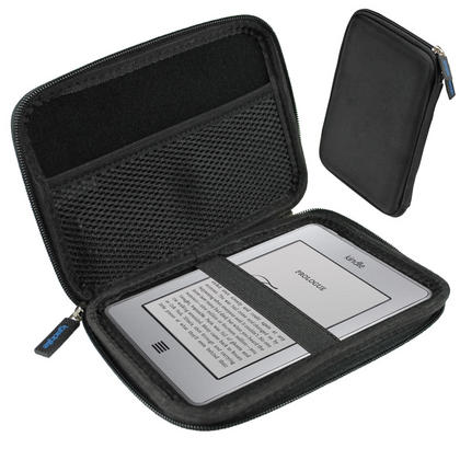 iGadgitz Black EVA Travel Hard Case Cover Sleeve for Amazon Kindle Paperwhite 2015 2014 2013 2012 & Kindle Touch Thumbnail 2
