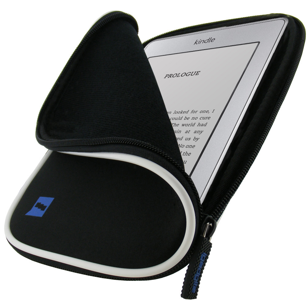 Black Neoprene Case Cover for New Amazon Kindle Touch Wi-Fi 6