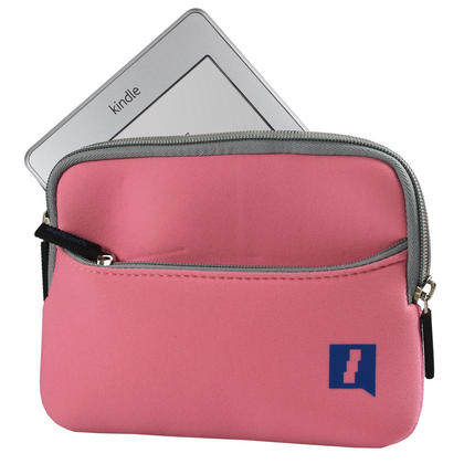 """iGadgitz Pink Neoprene Sleeve Case Cover with Front Pocket for New Amazon Kindle Touch Wi-Fi 6"""" E Ink Display Ereader 3G Thumbnail 2"""