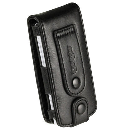 iGadgitz Black Genuine Leather Case Cover for Sony Walkman NWZ-S765 Series Video MP3 Player (NWZ-S765B, NWZ-S765W) Thumbnail 3