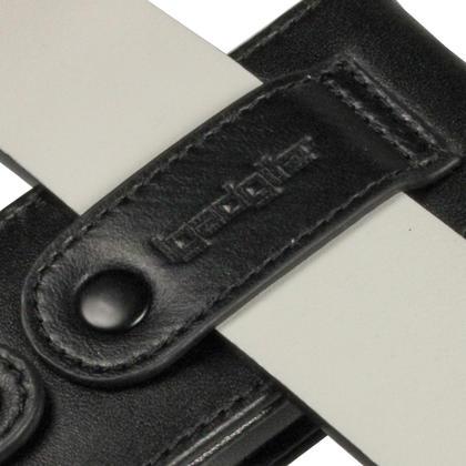 iGadgitz Black Genuine Leather Case Cover for Sony Walkman NWZ-S765 Series Video MP3 Player (NWZ-S765B, NWZ-S765W) Thumbnail 5