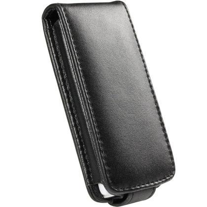 iGadgitz Black Genuine Leather Case Cover for Sony Walkman NWZ-S765 Series Video MP3 Player (NWZ-S765B, NWZ-S765W) Thumbnail 2