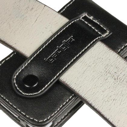 iGadgitz Black Genuine Leather Case Cover for Sony Walkman NWZ-A865 Series Video MP3 Player (NWZ-A865B, NWZ-A865W) Thumbnail 3