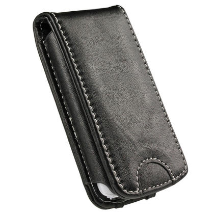 iGadgitz Black Genuine Leather Case Cover for Sony Walkman NWZ-A865 Series Video MP3 Player (NWZ-A865B, NWZ-A865W) Thumbnail 5