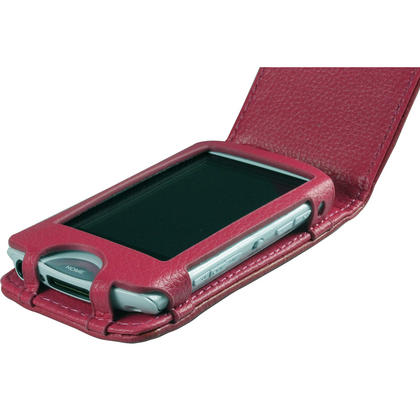 iGadgitz Pink Genuine Leather Case Cover for Sony Walkman NWZ-A865 Series Video MP3 Player (NWZ-A865B, NWZ-A865W) Thumbnail 3