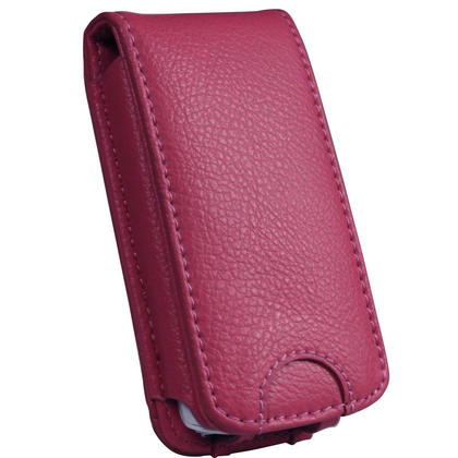 iGadgitz Pink Genuine Leather Case Cover for Sony Walkman NWZ-A865 Series Video MP3 Player (NWZ-A865B, NWZ-A865W) Thumbnail 2