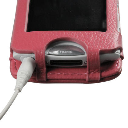 iGadgitz Pink Genuine Leather Case Cover for Sony Walkman NWZ-A865 Series Video MP3 Player (NWZ-A865B, NWZ-A865W) Thumbnail 5