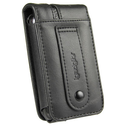 iGadgitz Black Genuine Leather Case Cover for Pure Move 2500 Rechargeable Personal Digital DAB/FM Radio Thumbnail 3