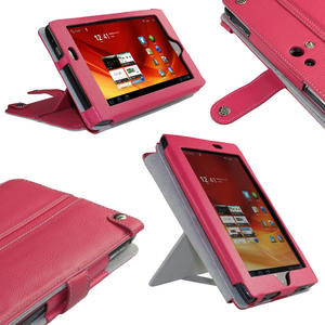 "iGadgitz Pink Genuine Leather Case Cover for Acer Iconia Tab A100 7"" 8gb WiFi Tablet Preview"