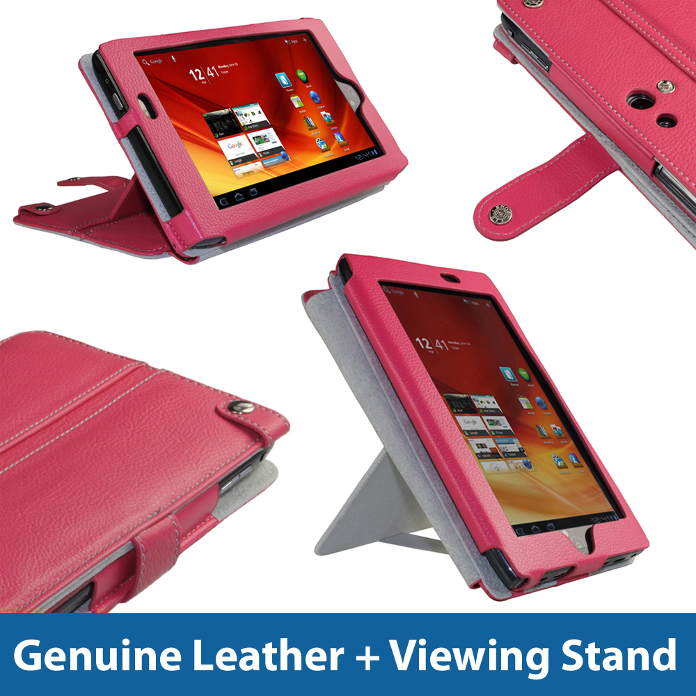 Pink Leather Case Cover for Acer Iconia Tab A100 7
