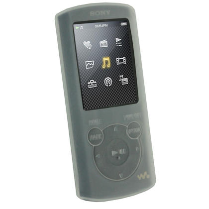 iGadgitz Clear Silicone Skin Case & Sports Armband for Sony Walkman NWZ-E463 NWZ-E464 E Series Video + Screen Protector Thumbnail 2