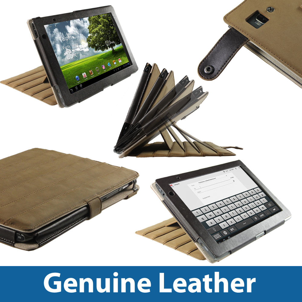 Brown Leather Case Cover for Acer Iconia Tab A500 A501 10.1 Android Tablet 16gb Enlarged Preview