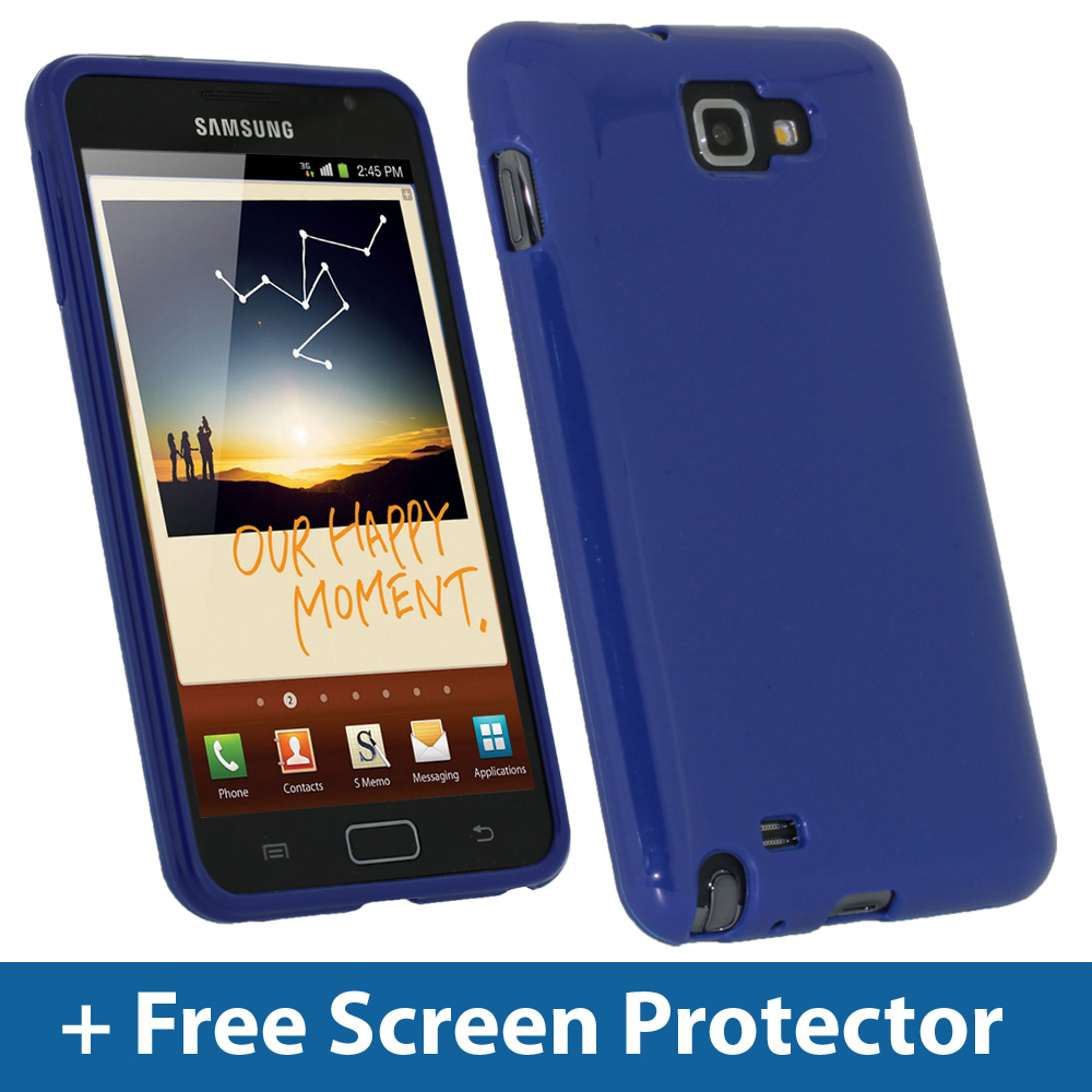Innov8 - Blue TPU Gel Case for Samsung Galaxy Note N7000 Android Skin
