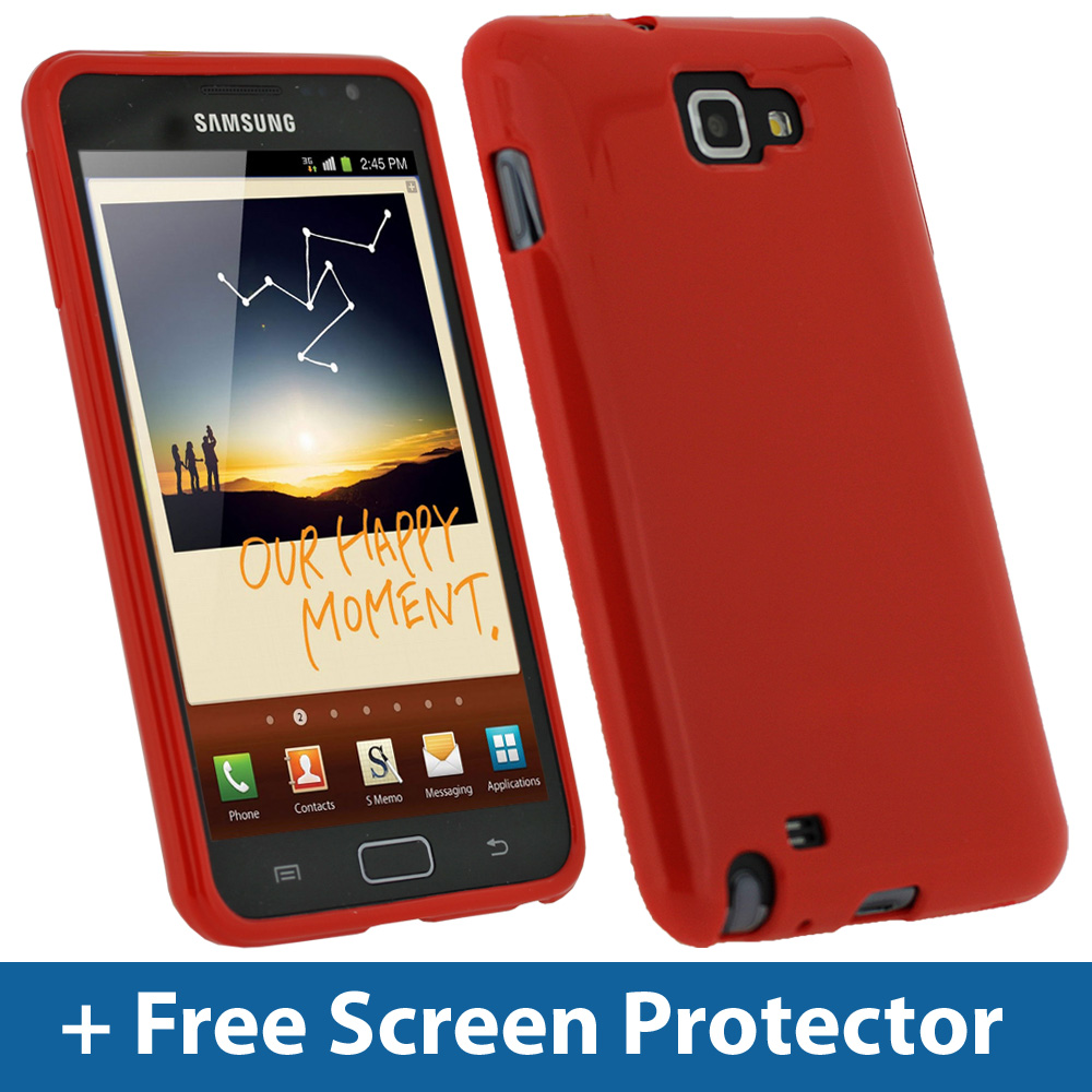 Red TPU Gel Case for Samsung Galaxy Note N7000 Android Skin Cover Holder 16GB Enlarged Preview