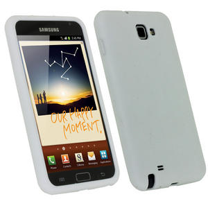 iGadgitz White Silicone Skin Case Cover for Samsung Galaxy Note N7000
