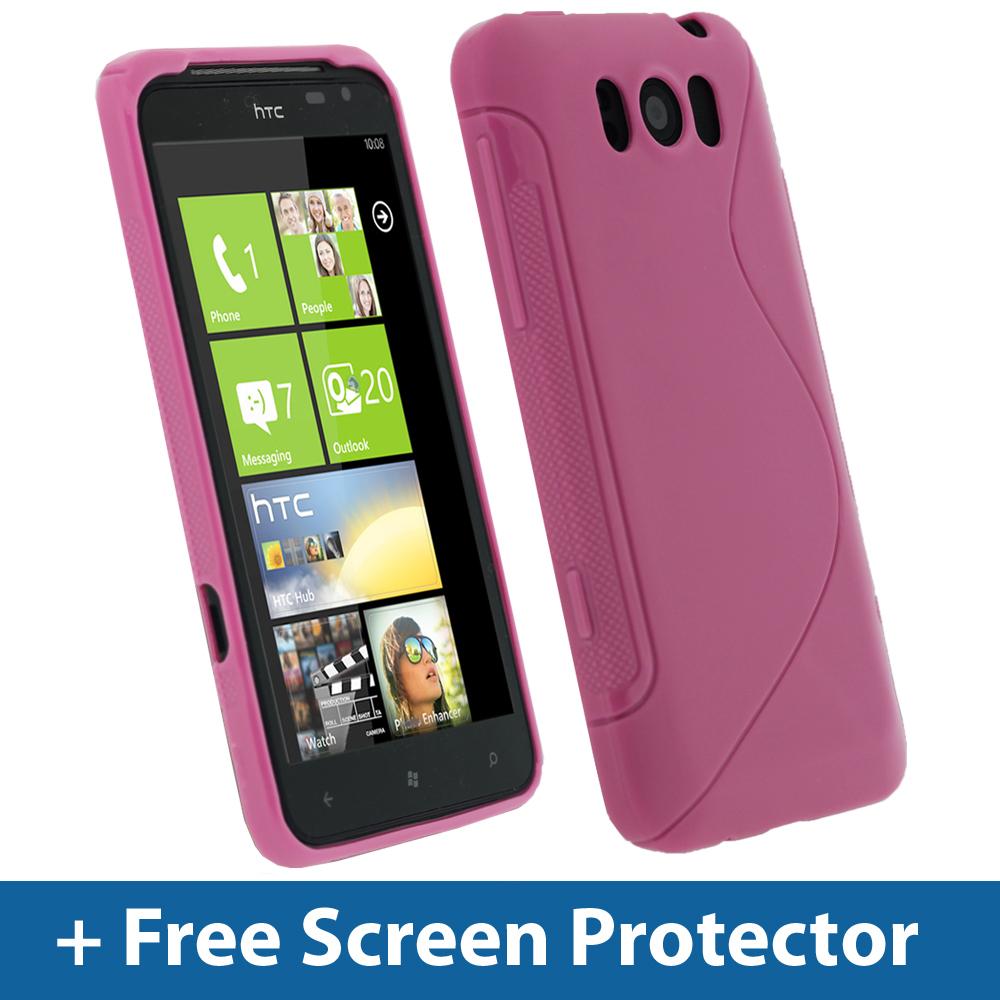 pink dual tone tpu gel case for htc titan windows cover skin holder bumper x310e ebay