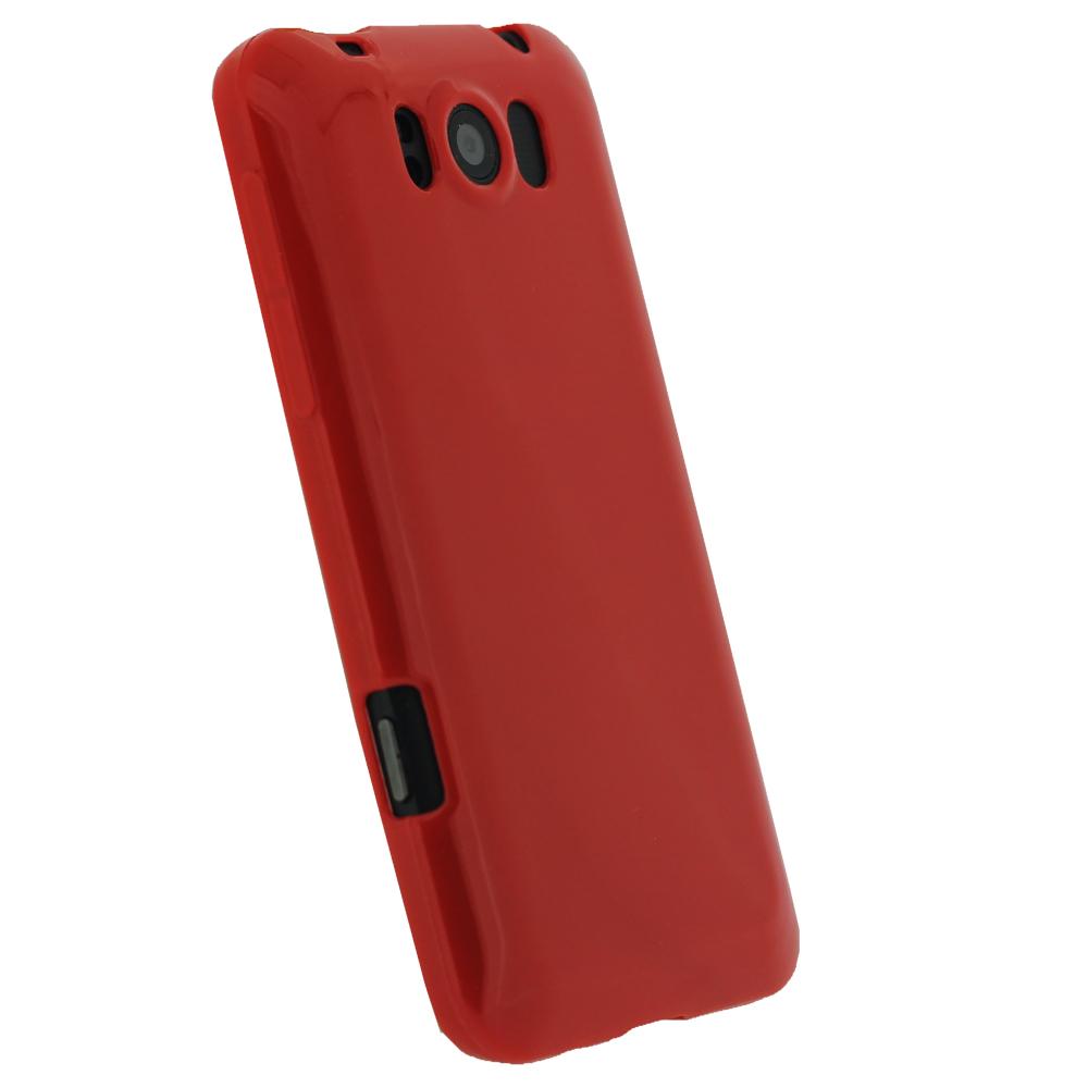 red glossy tpu gel case for htc titan windows skin cover holder bumper x310e ebay