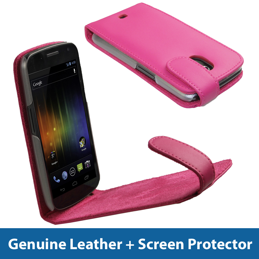 Pink Leather Case for Samsung Galaxy Nexus i9250 Android ...
