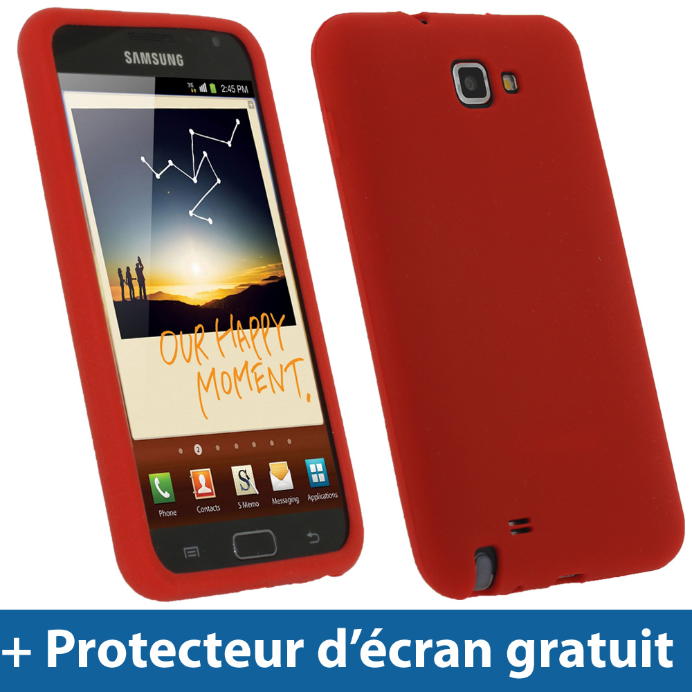 Rouge tui housse silicone pour samsung galaxy note n7000 for Housse samsung galaxy note
