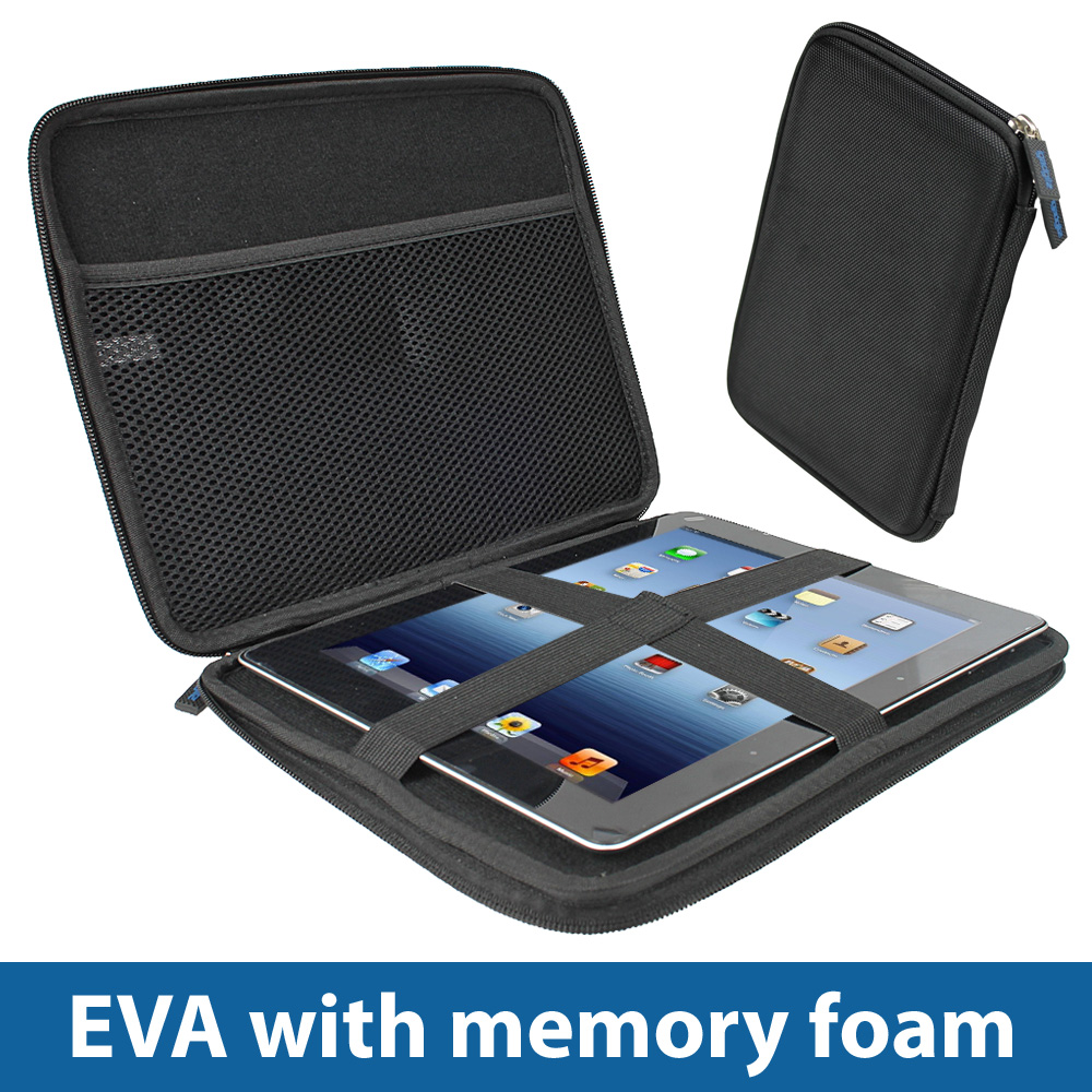 Black EVA Hard Case Cover for Apple iPad 2 & 3 New 3rd Generation Wi-Fi 4G Enlarged Preview