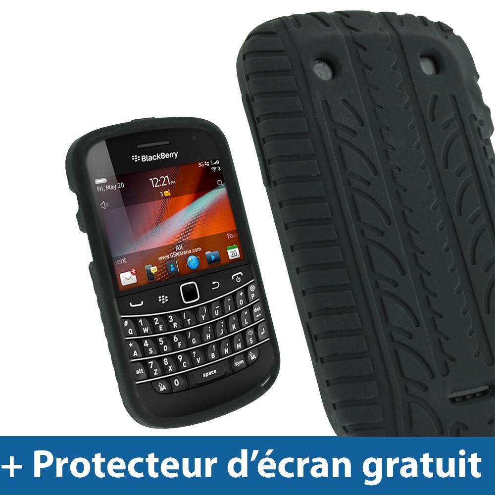 Noir pneu etui housse silicone pour blackberry bold touch for Housse pour blackberry curve