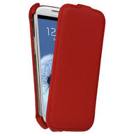 View Item iGadgitz Red PU Leather Flip Case Cover Holder for Samsung Galaxy S3 III i9300 Android Smartphone Mobile Phone