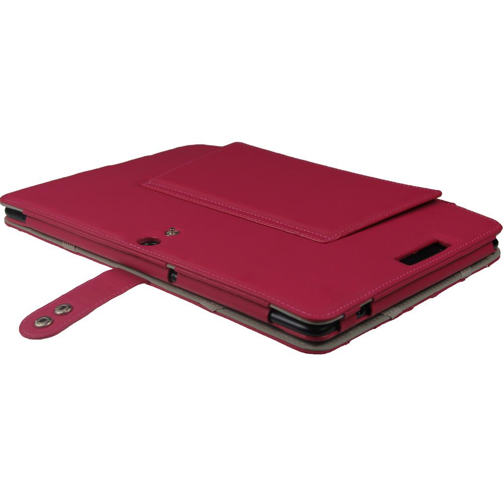 pink leder tasche f r asus eee pad transformer tf300 tf300t 10 1 tastatur pu ebay. Black Bedroom Furniture Sets. Home Design Ideas