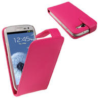 View Item iGadgitz Pink Leather Case Cover Holder for Samsung Galaxy S3 III i9300 Android Smartphone Mobile Phone + Screen Protector