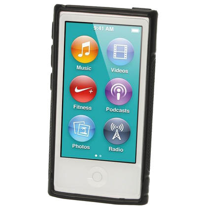 iGadgitz Dual Tone Black Gel Case for Apple iPod Nano 7th Generation 7G 16GB + Screen Protector Thumbnail 2
