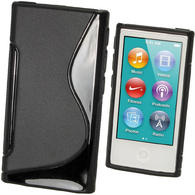 iGadgitz Dual Tone Black Gel Case for Apple iPod Nano 7th Generation 7G 16GB + Screen Protector