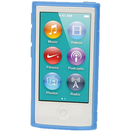 iGadgitz Dual Tone Blue Gel Case for Apple iPod Nano 7th Generation 7G 16GB + Screen Protector Thumbnail 2