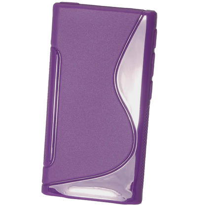 iGadgitz Dual Tone Purple Gel Case for Apple iPod Nano 7th Generation 7G 16GB + Screen Protector Thumbnail 3