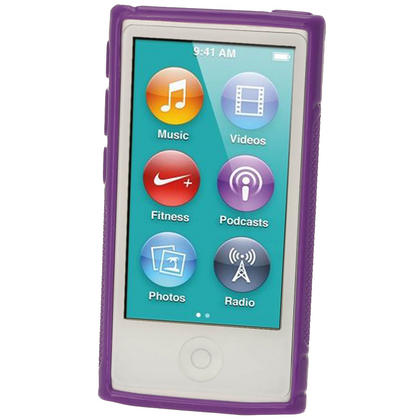 iGadgitz Dual Tone Purple Gel Case for Apple iPod Nano 7th Generation 7G 16GB + Screen Protector Thumbnail 2
