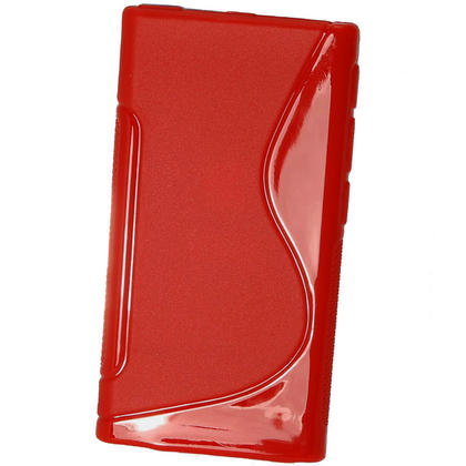 iGadgitz Dual Tone Red Gel Case for Apple iPod Nano 7th Generation 7G 16GB + Screen Protector Thumbnail 3